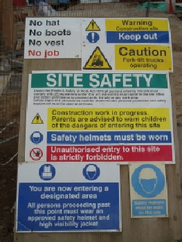 Follow all site safety signage