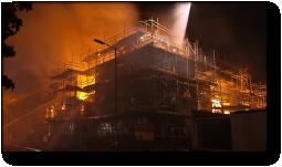 Castleoak строительная площадка пожара Basingstoke 10 сентября 2010